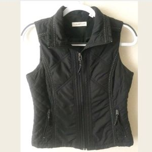 Coldwater Creek Black Zip Up Vest